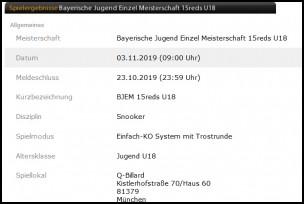 Bayerische Jugendmeisterschaft U18/U21